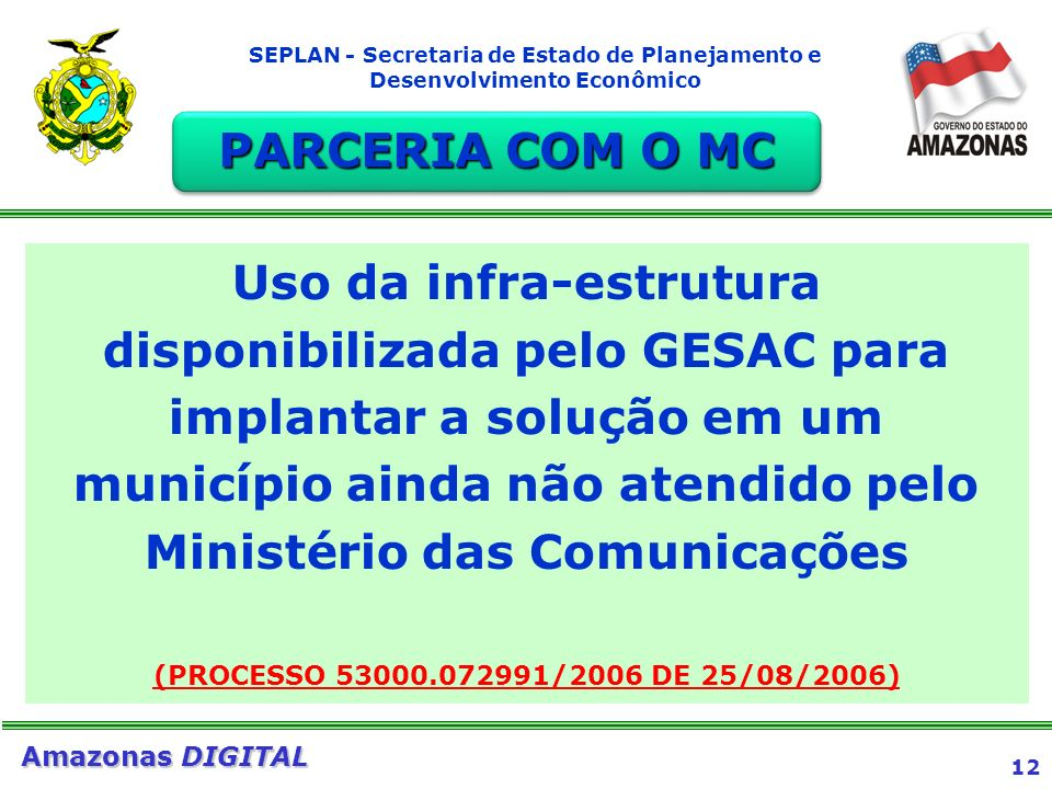 PARCERIA COM O MC