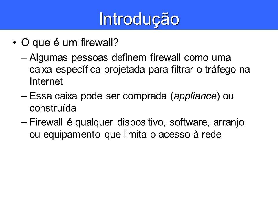 Introdução O que é um firewall