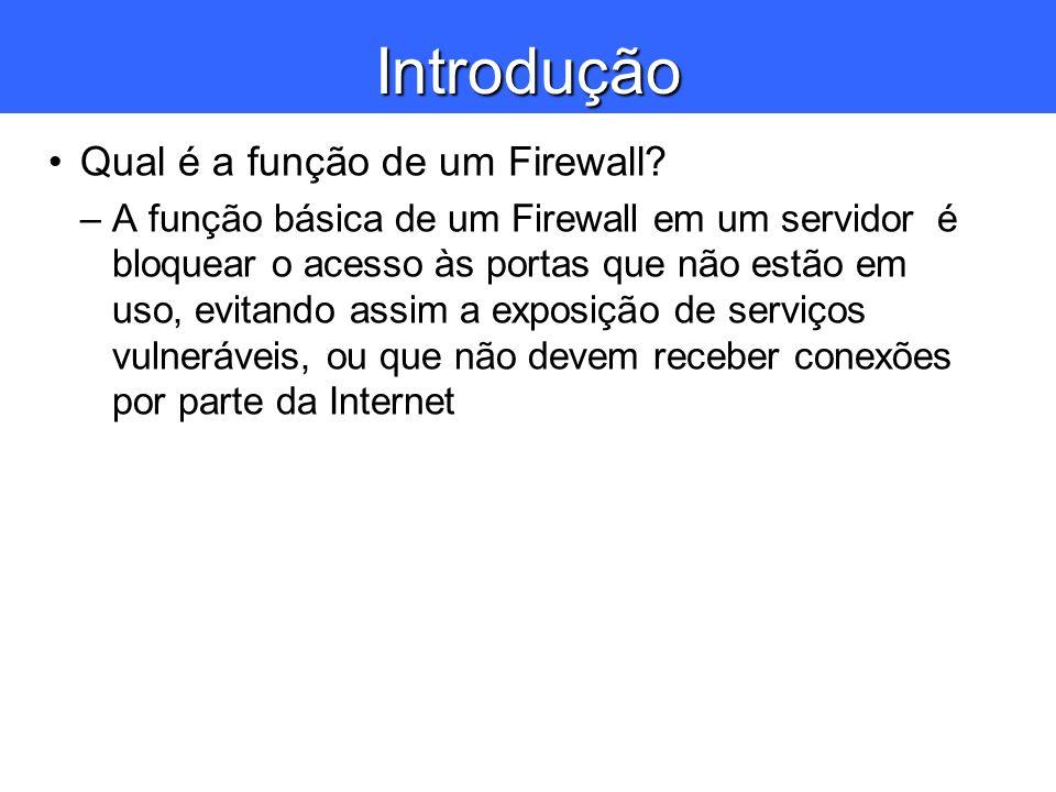 Introdução Qual é a função de um Firewall