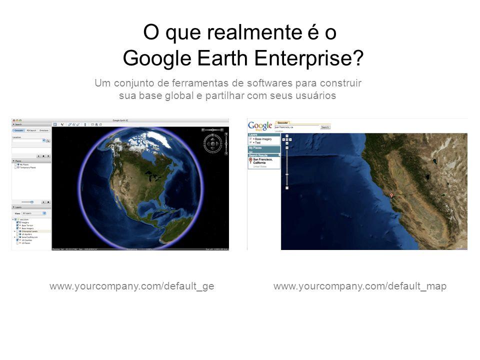 O que realmente é o Google Earth Enterprise