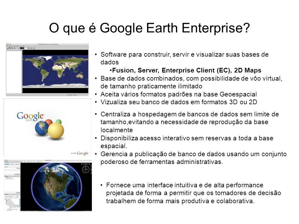 O que é Google Earth Enterprise