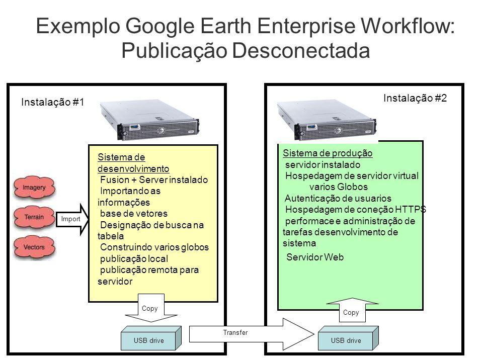 Exemplo Google Earth Enterprise Workflow: Publicação Desconectada