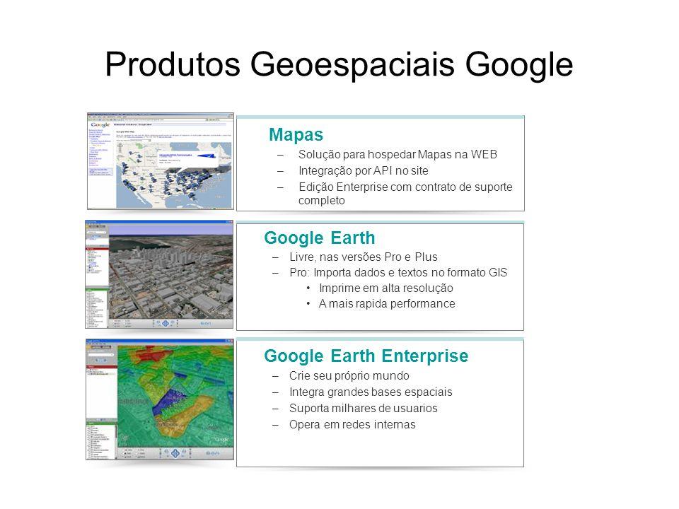 Produtos Geoespaciais Google