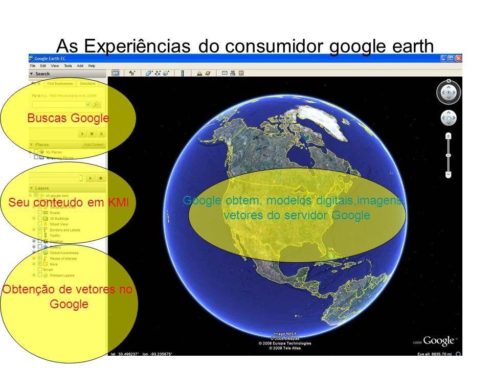 As Experiências do consumidor google earth