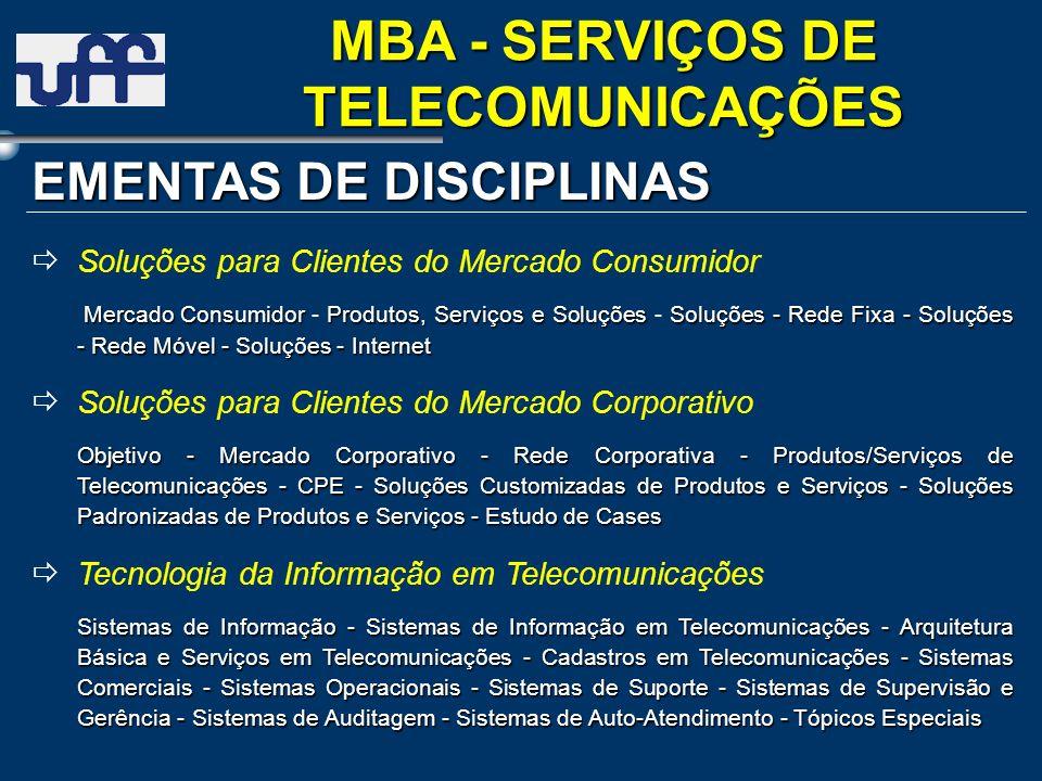 MBA - SERVIÇOS DE TELECOMUNICAÇÕES
