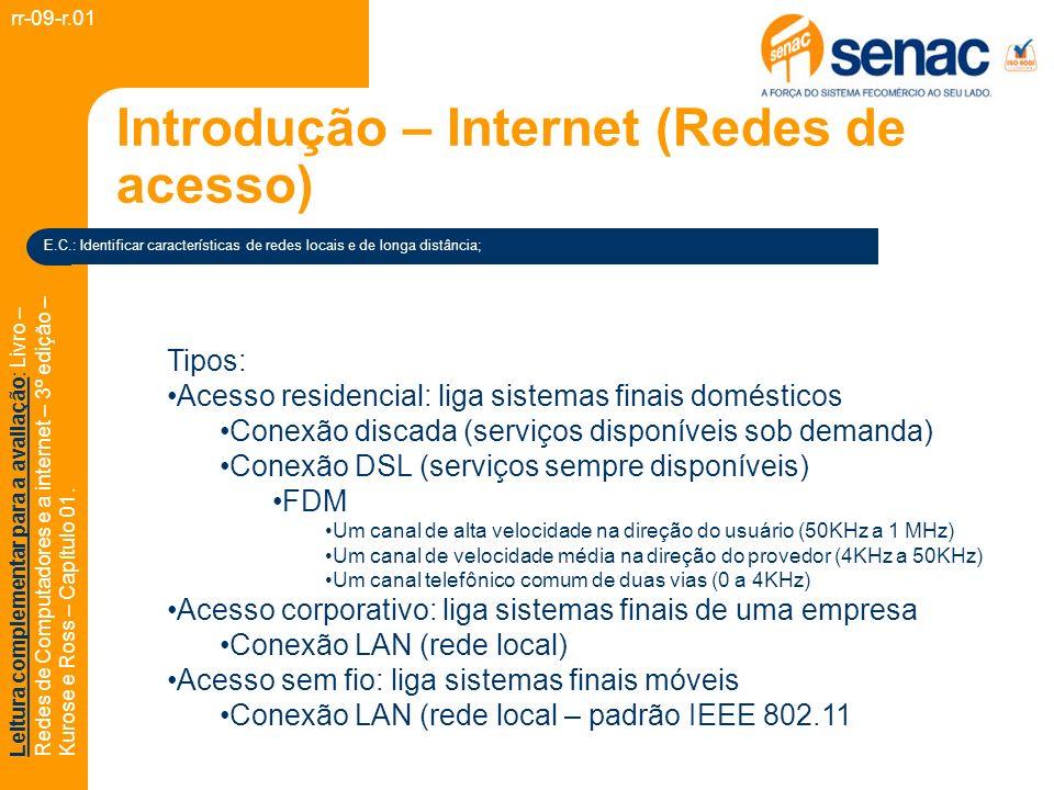 Introdução – Internet (Redes de acesso)