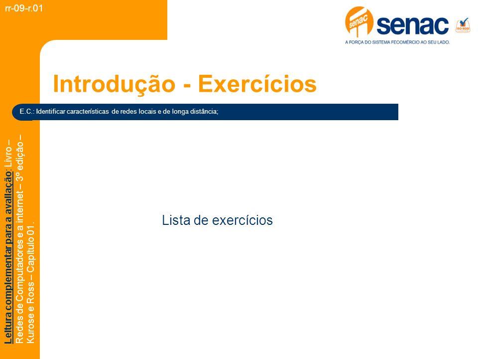 Introdução - Exercícios