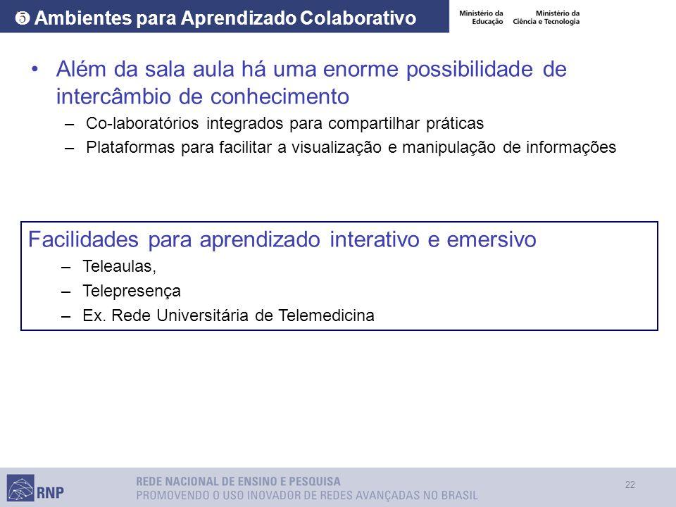 ❺ Ambientes para Aprendizado Colaborativo