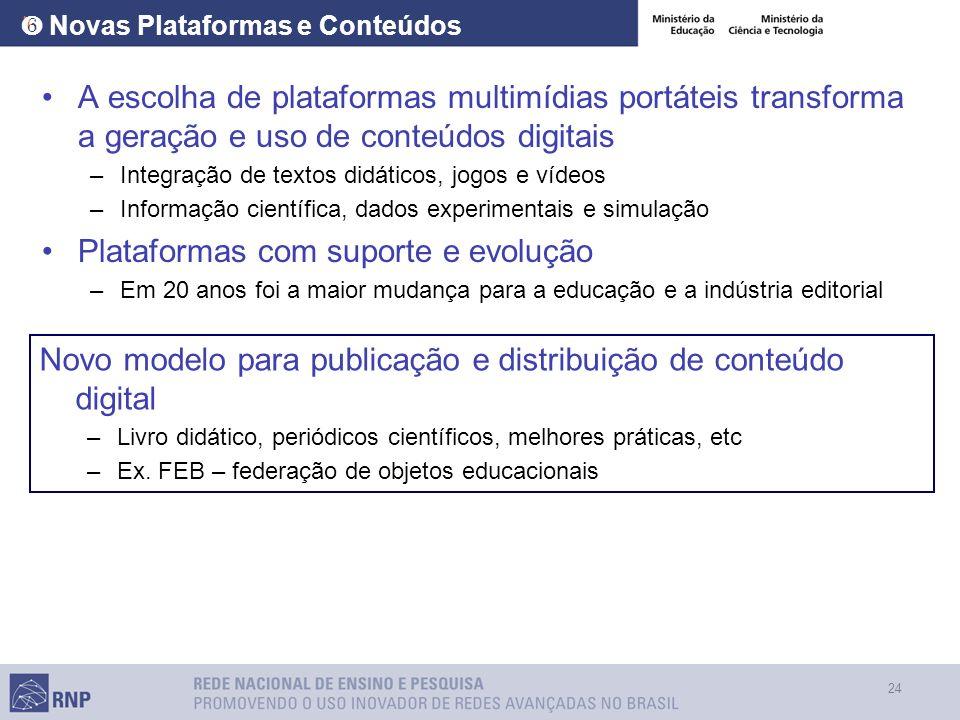 ❻ Novas Plataformas e Conteúdos
