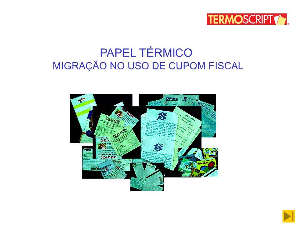 MIGRAÇÃO NO USO DE CUPOM FISCAL