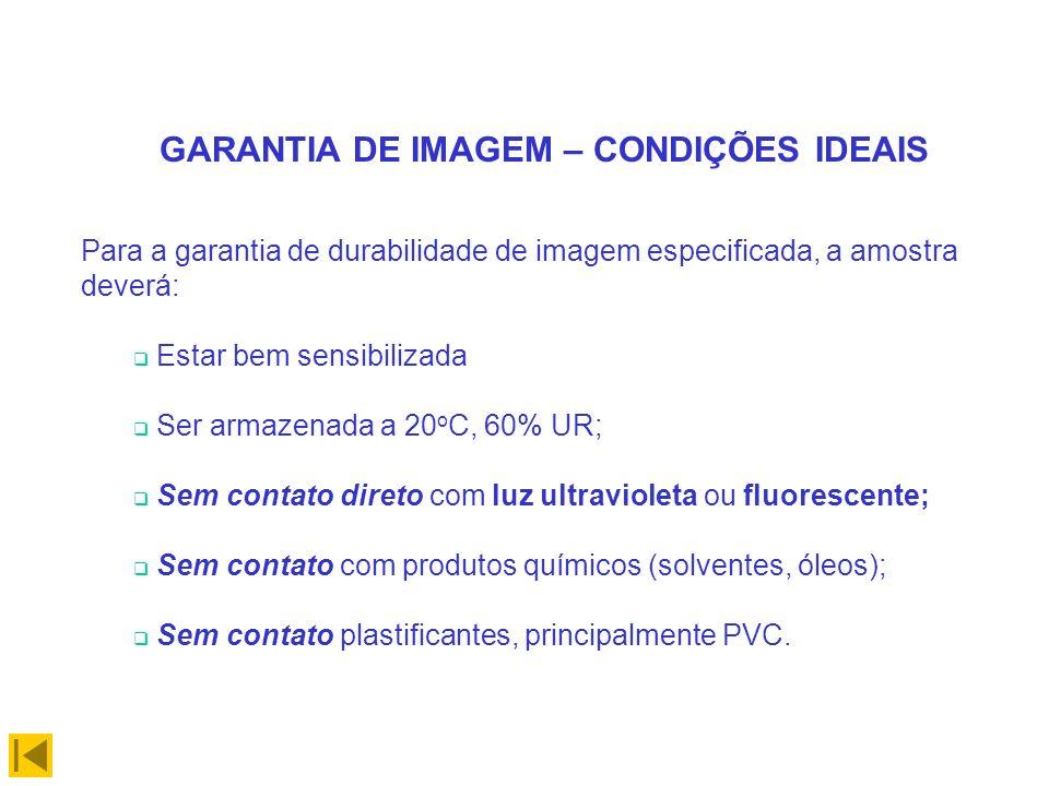 GARANTIA DE IMAGEM – CONDIÇÕES IDEAIS