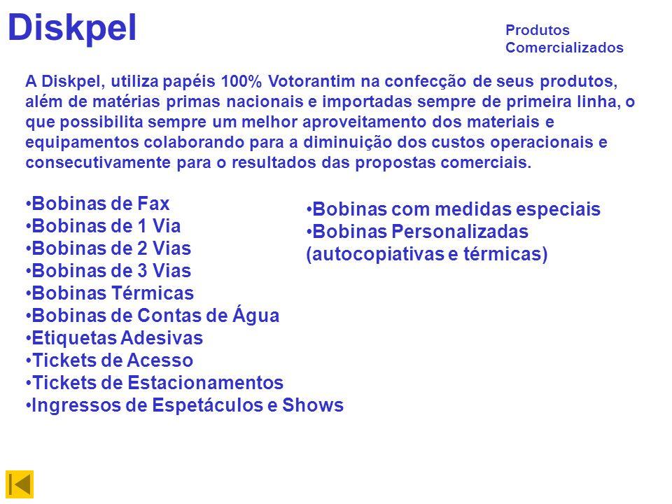 Diskpel Bobinas de Fax Bobinas com medidas especiais Bobinas de 1 Via