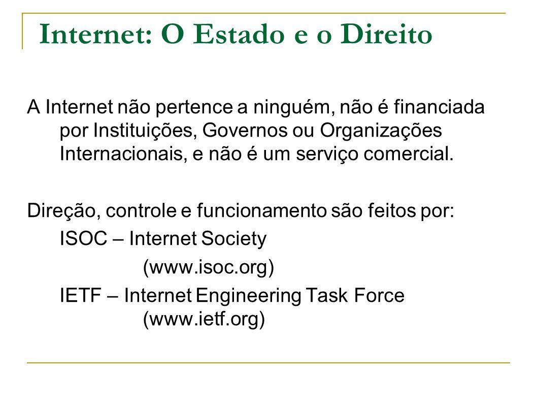 Internet: O Estado e o Direito