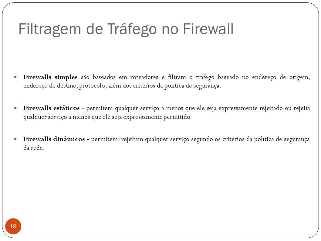 Filtragem de Tráfego no Firewall