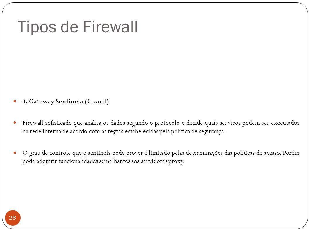 Tipos de Firewall 4. Gateway Sentinela (Guard)