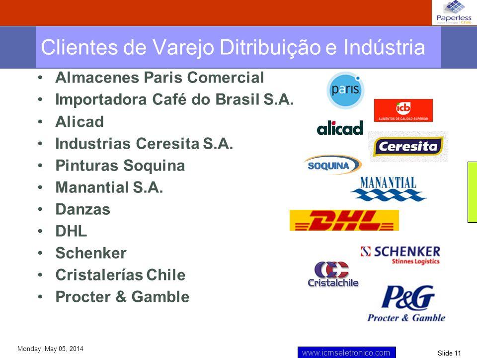 Clientes de Varejo Ditribuição e Indústria