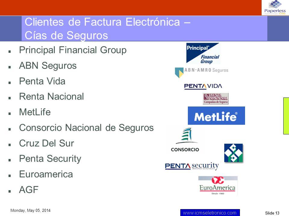 Clientes de Factura Electrónica – Cías de Seguros