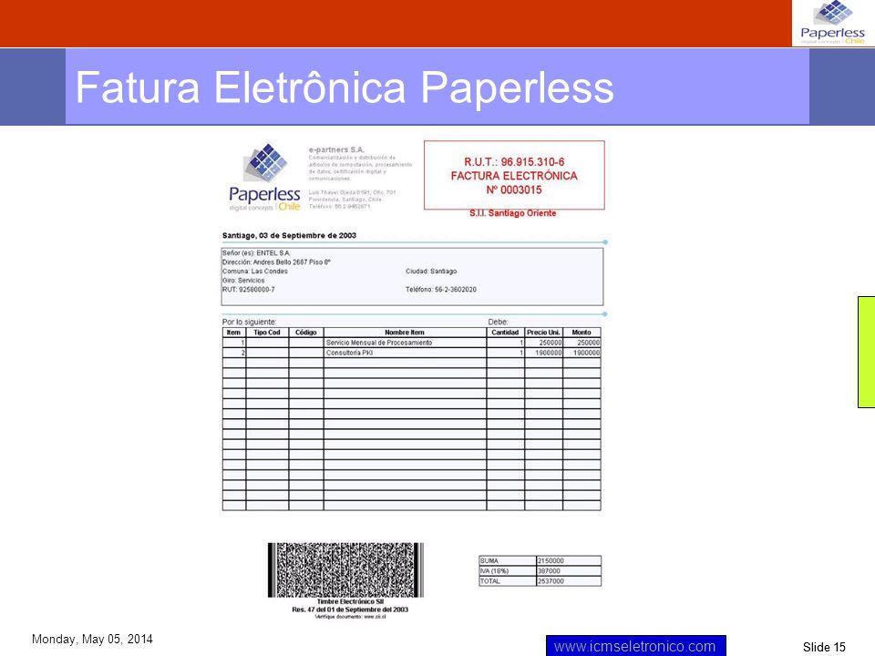 Fatura Eletrônica Paperless