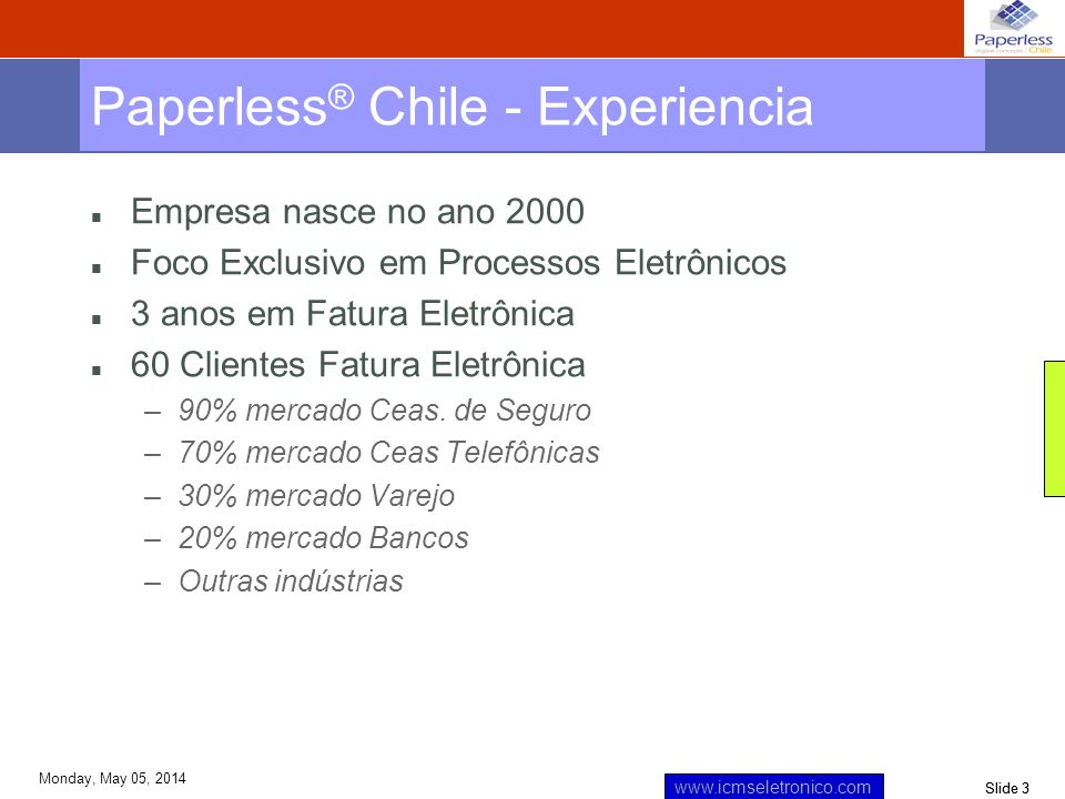 Paperless® Chile - Experiencia