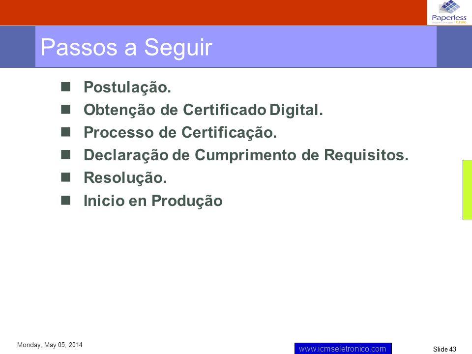 Passos a Seguir Postulação. Obtenção de Certificado Digital.