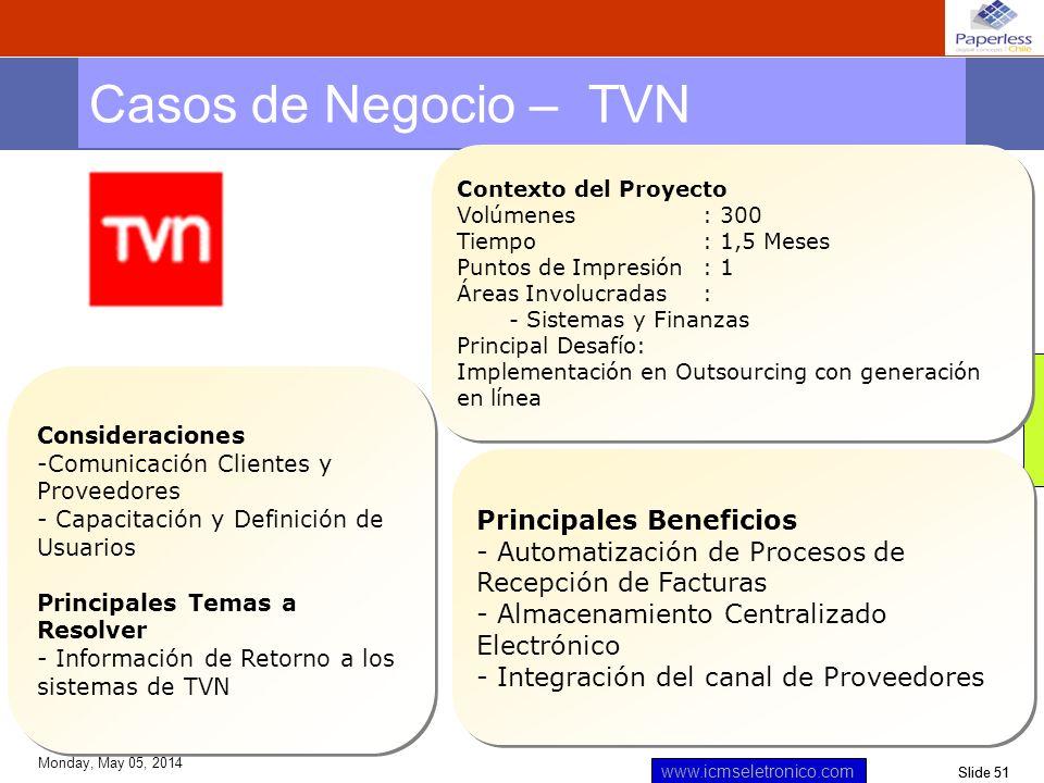 Casos de Negocio – TVN Principales Beneficios