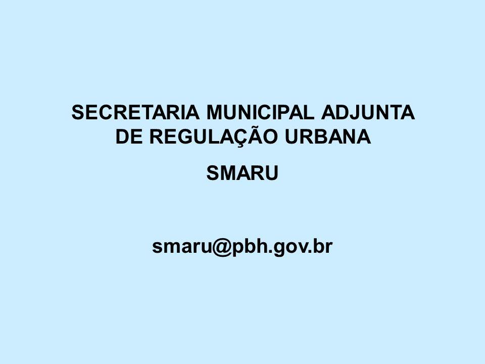 SECRETARIA MUNICIPAL ADJUNTA DE REGULAÇÃO URBANA