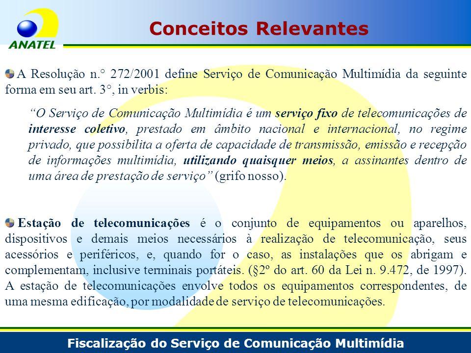Conceitos Relevantes A Resolução n.° 272/2001 define Serviço de Comunicação Multimídia da seguinte forma em seu art. 3°, in verbis: