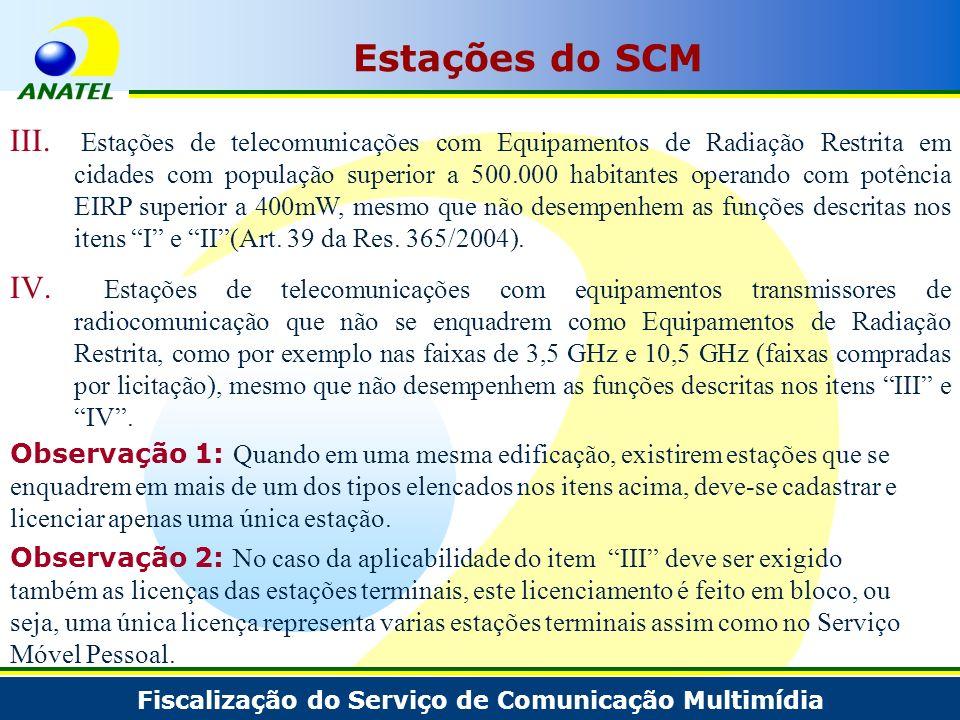 Estações do SCM