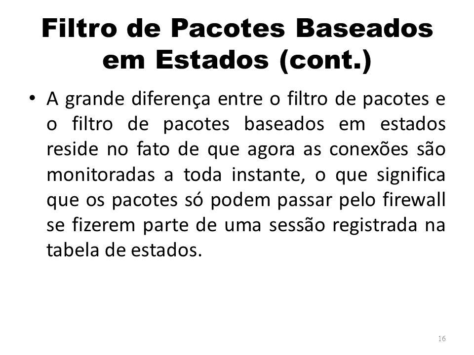 Filtro de Pacotes Baseados em Estados (cont.)
