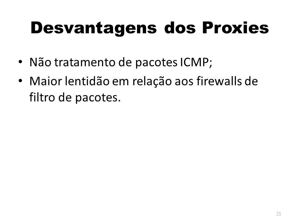 Desvantagens dos Proxies