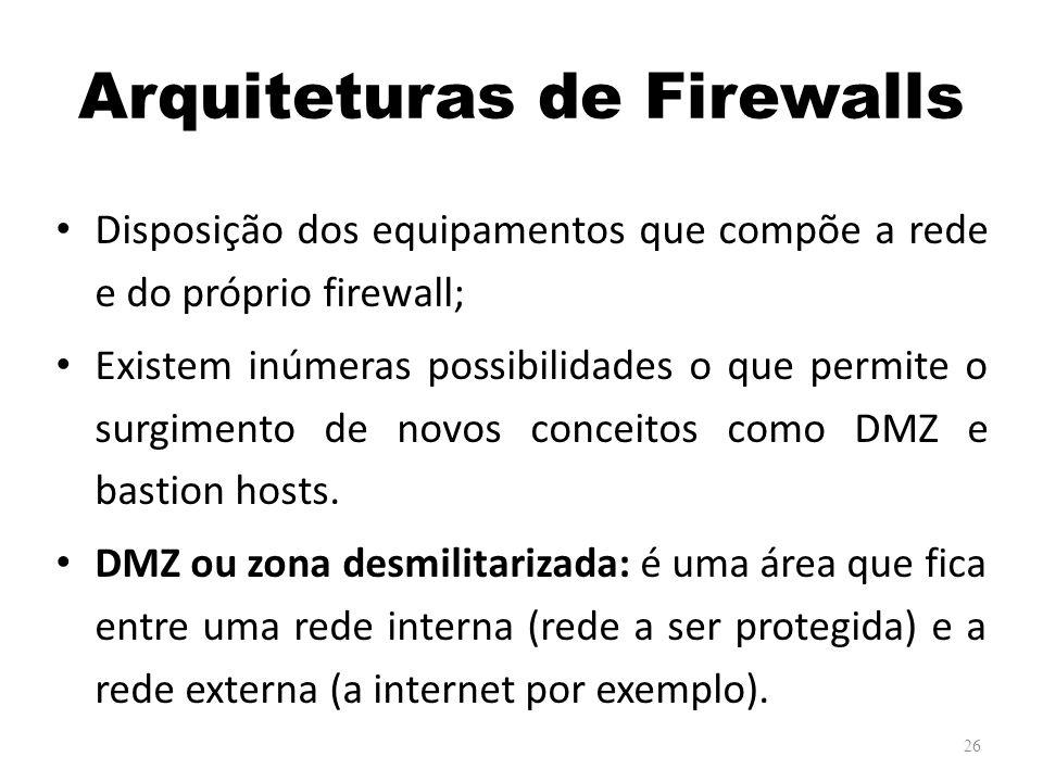 Arquiteturas de Firewalls