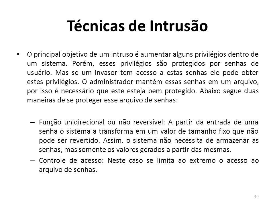 Técnicas de Intrusão
