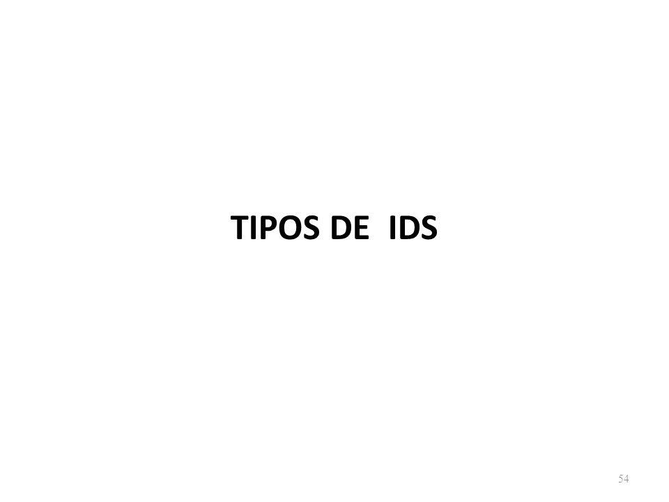 TIPOS DE IDS