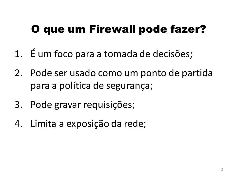 O que um Firewall pode fazer
