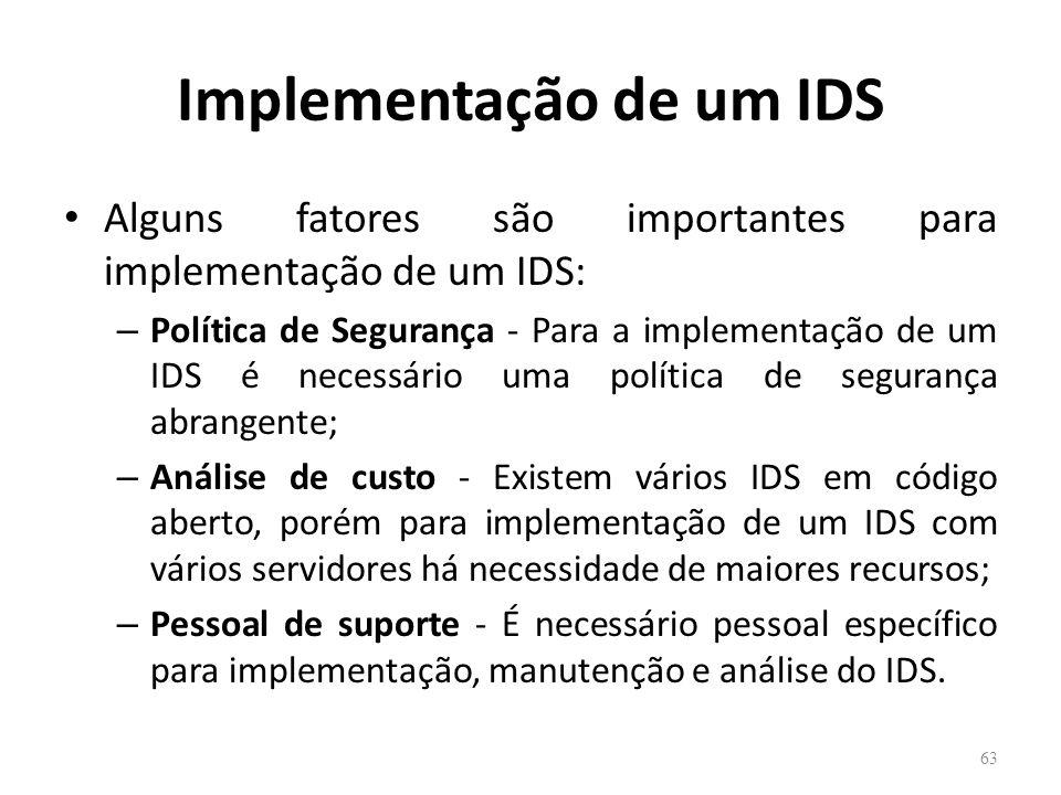 Implementação de um IDS