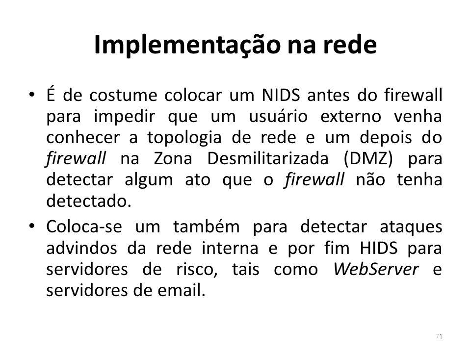 Implementação na rede