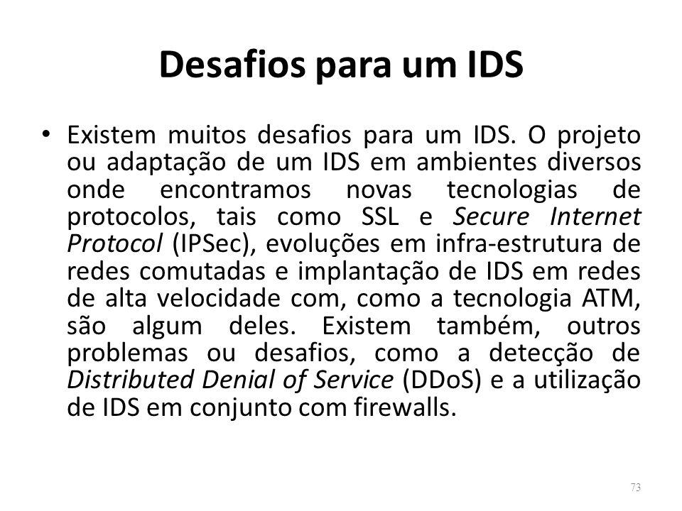 Desafios para um IDS