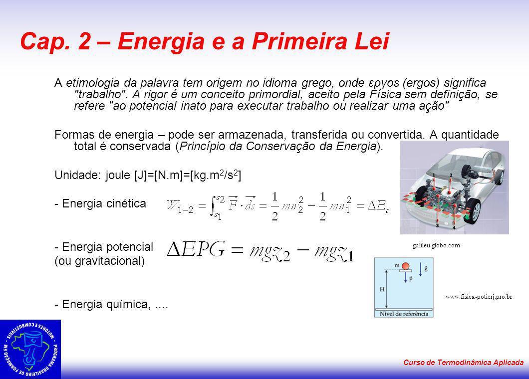 Cap. 2 – Energia e a Primeira Lei