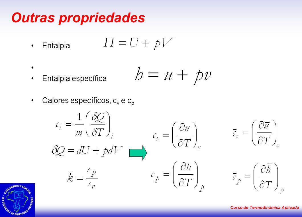 Outras propriedades Entalpia Entalpia específica
