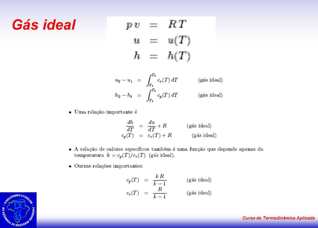 Gás ideal Curso de Termodinâmica Aplicada