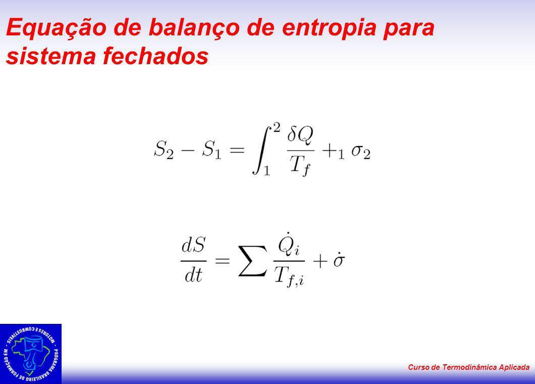 Equação de balanço de entropia para sistema fechados