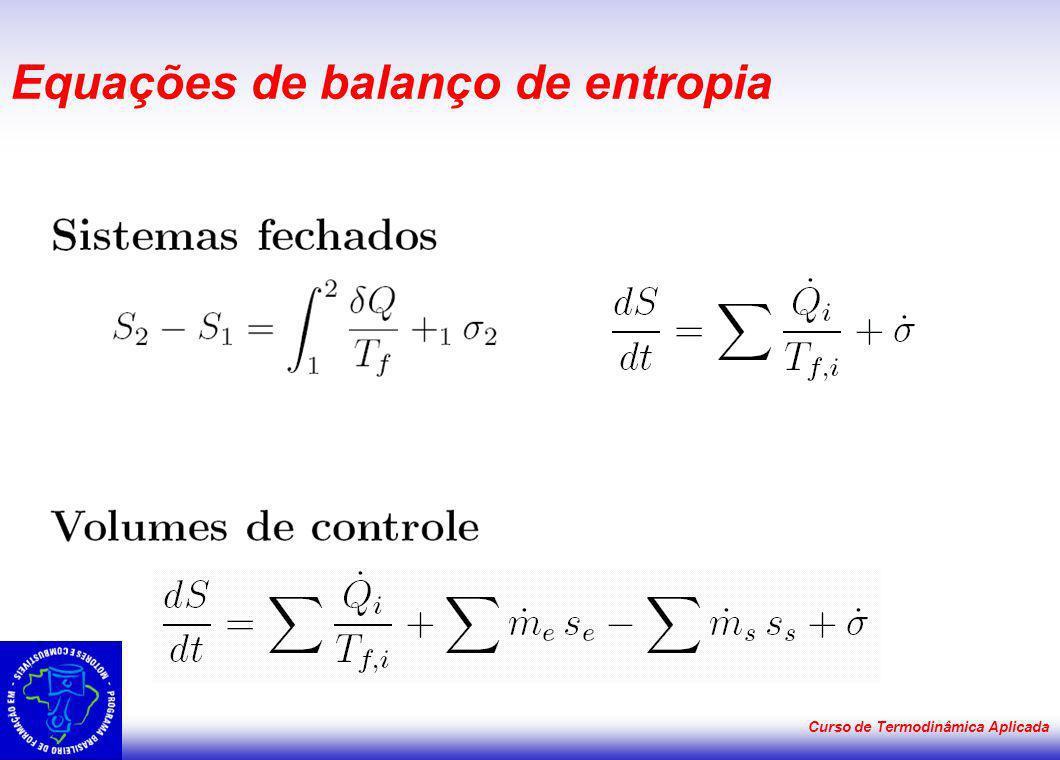 Equações de balanço de entropia