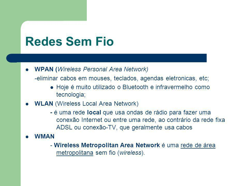 Redes Sem Fio WPAN (Wireless Personal Area Network)