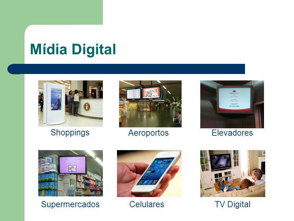 Mídia Digital Shoppings Aeroportos Elevadores Supermercados Celulares