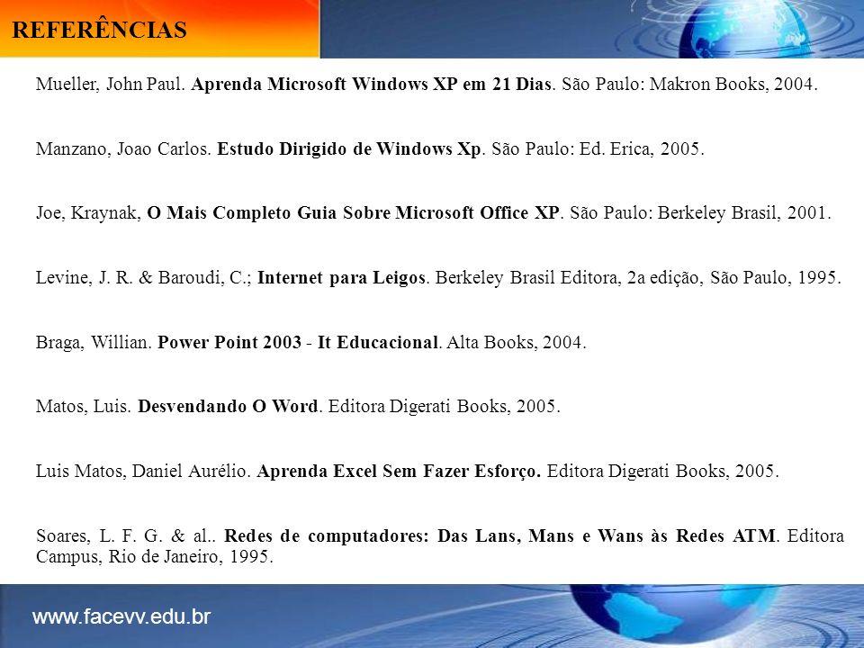 REFERÊNCIAS www.facevv.edu.br