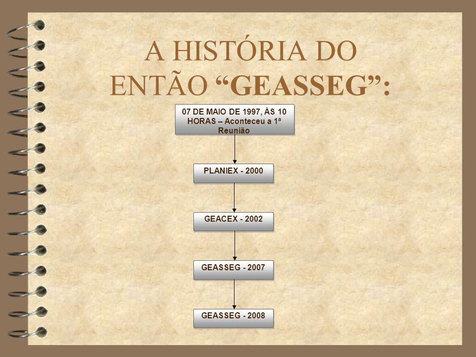 A HISTÓRIA DO ENTÃO GEASSEG :