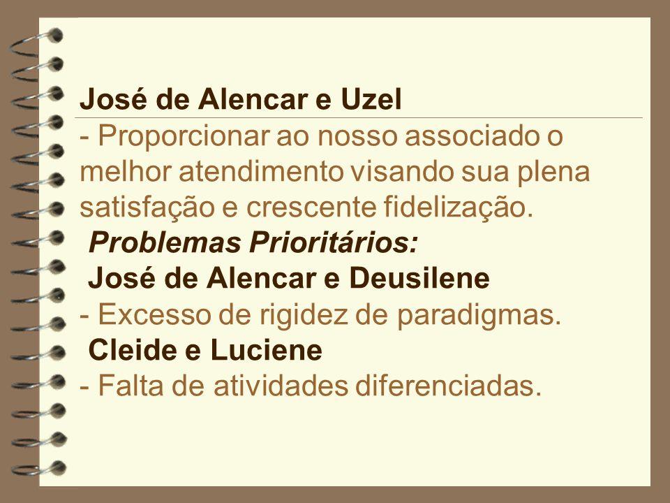 José de Alencar e Uzel - Proporcionar ao nosso associado o melhor atendimento visando sua plena satisfação e crescente fidelização.