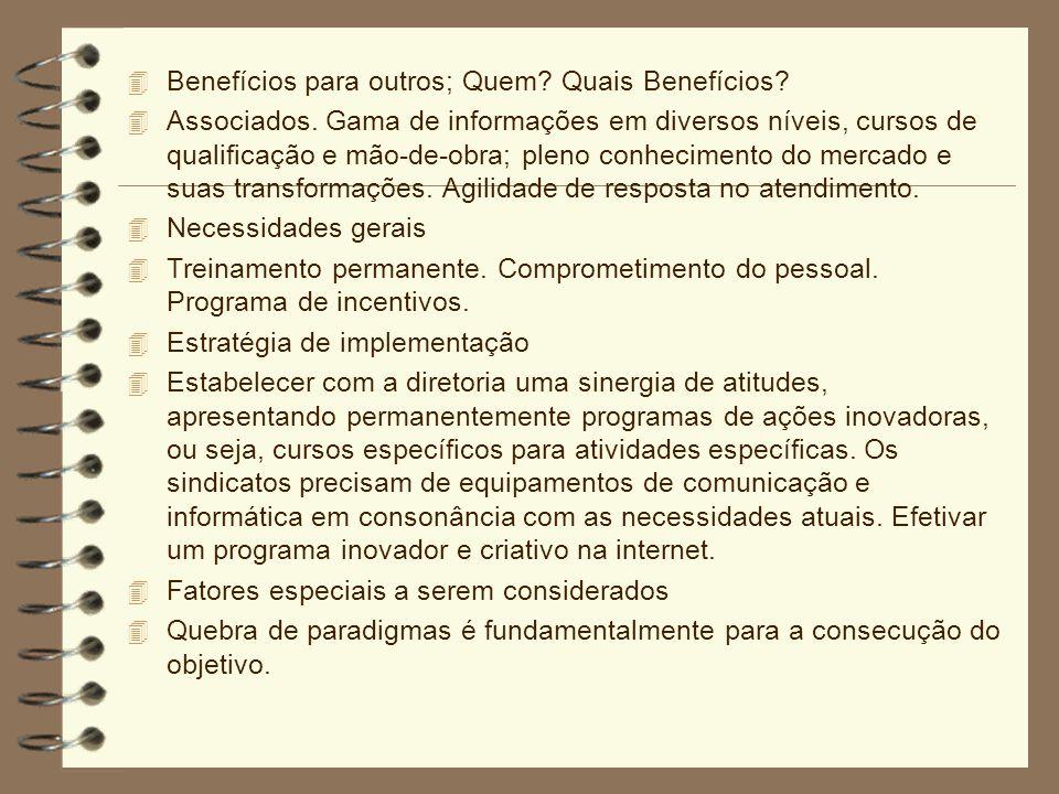 Benefícios para outros; Quem Quais Benefícios