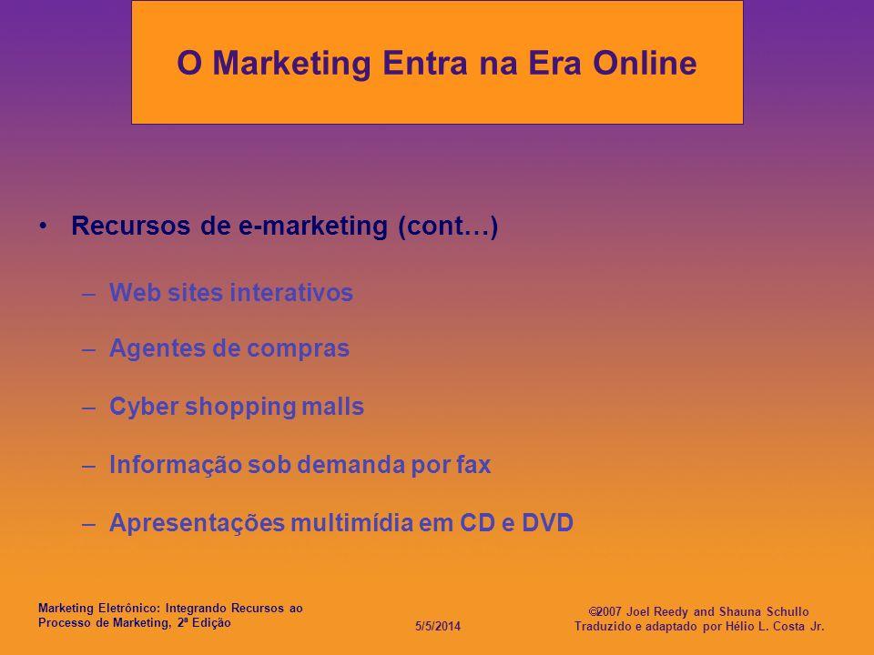 O Marketing Entra na Era Online