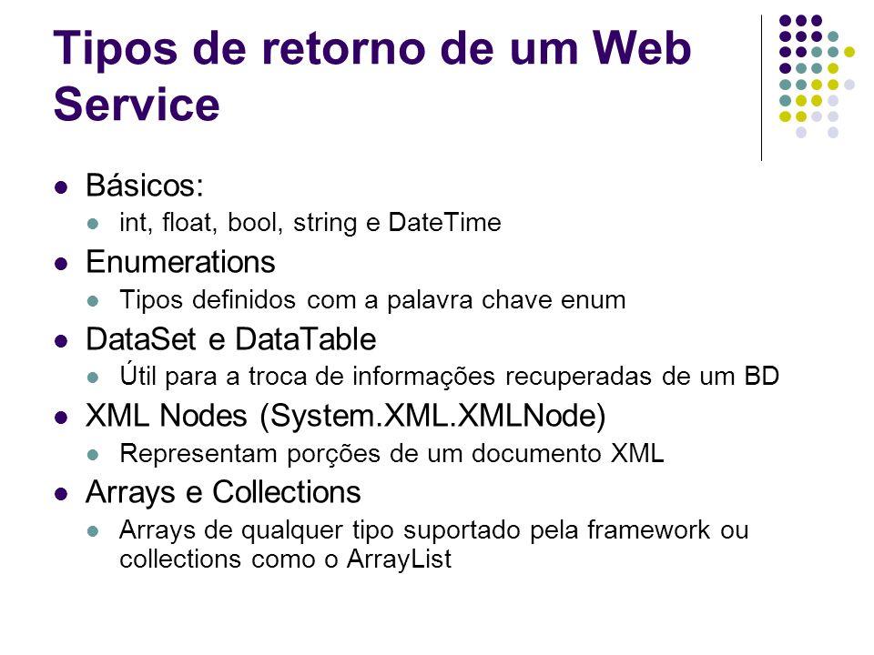 Tipos de retorno de um Web Service